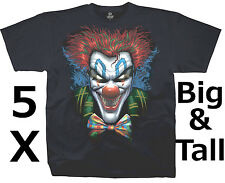 Evil Joker Clown Tee, King Size 5X. NWT. Hard-To-Find Size Big Men's 5X!