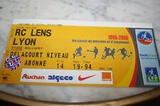 TICKET )) RC LENS V MARSEILLE OM  )) saison 2005/2006