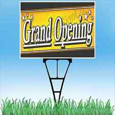 18x24 Grand Opening Outdoor Yard Sign Amp Stake Sidewalk Lawn New Store Now Open