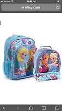 Nwt Disney Store Frozen Anna Elsa Backpack With Lunch Tote Lunch Box Kids