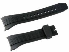 Seiko Velatura 7T62 New Silicone Rubber Black Watch Band Strap Replacament