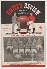More details for manchester united v preston north end division one 1952/53 tommy taylor debut