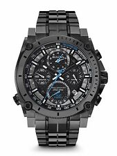 New Bulova 98B229 Precisionist Chronograph Gunmetal Stainless 300M Men's Watch