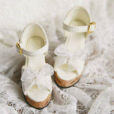 1/4 BJD Shoes Bowknot Deco Thick Sandals High Heels for MSD Dollfie DREAM Doll