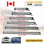 7 13 20 25 32 38 inch Slim LED Work Light Bar Single Row Offroad 4x4 SUV ATV Car