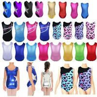 Girls Gymnastics Leotard Ballet Dancewear Dance Dress Unitards Athletic Costume