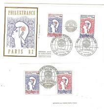 ENV. + BLOC 1 er JOUR bloc N°8 philex france oblitéré 11. 6. 1982 cote yvert €46