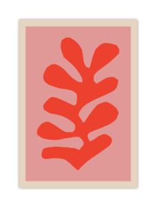 Pink and Red Matisse Cutout Poster, Henri Matisse Art Print