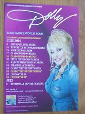 Dolly Parton Blue Smoke 2014 UK Tour Handbill/Leaflet