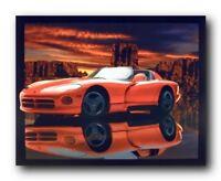 Red Hot Dodge Viper Classic Vintage Sport Car Wall Decor Art Print Picture 8x10