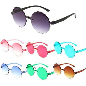 Rimless Round Sunglasses Fashion Gradient Shades For Women Outdoor Eyeglasses