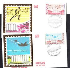MONACO   enveloppe 1er jour   championnats athlétisme et natation     1985