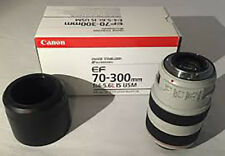 Canon EF 70-300 mm F/4-5.6 EF IS L USM Lens + Collier de trépied, boxed.