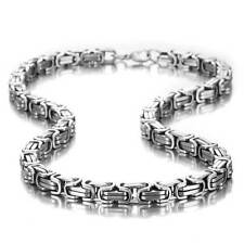 Stainless Steel Mechanic Style Masculine Men's Necklace Silver Chain Color