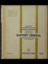 EXPOSITION DES ARTS DECORATIFS 1925 - RAPPORT GENERAL- VOL. II - ARCHITECTURE