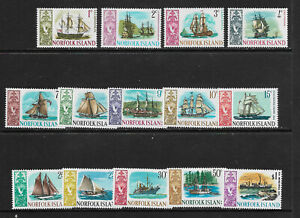 E56] NORFOLK ISLAND SG77-90 1967 Definitive set unmounted mint SG cat £10.50