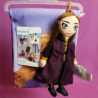 Disney Frozen II 2 Piece Anna Character Child's Bath Wash Set Plush Toy Scrubby