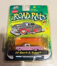 🏁 JADA TOYS Road Rats 59' Pink Chevy El Camino Low Rider 🏁