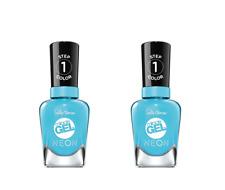 Sally hansen miracle gel neon nail polish 053 Miami ice 14.7ml (SET OF 2)