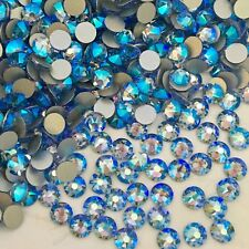 Swarovski Glue on 100 X Ss20 Light Sapphire Blue Shimmer Rhinestones Diamantes