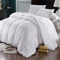 Goose Down Comforter 600 Thread Count Oversized Extra Warmth Winter Weight