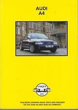 AUDI A4 SALOON ESTATE INCL QUATTRO TDi CABRIOLET 1995-2002 PERIOD ROADTESTS BOOK