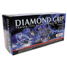 Microflex MF300L Diamond Grip Latex, Powder-Free Gloves, Box of 100, Size:Large