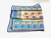 Women's Vintage Vera Gold Blue Grapes Square Scarf 21 x 21
