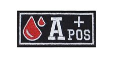 A + pos sangre grupo Patch Patch badge blood type Biker rocker perchas imagen sotana