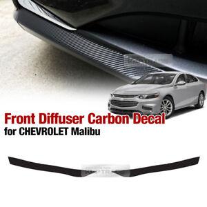 Front Bumper Skid Lip Carbon Decal Sticker For CHEVROLET 2016 2017 2018 Malibu