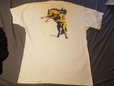 Vintage Marlboro Man T Shirt Wild West Collection Mens XL 90s Cigarettes STAINED