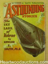 Astounding Aug 1934 Howard V. Brown cvr, E.E. Smith, Jack Williamson