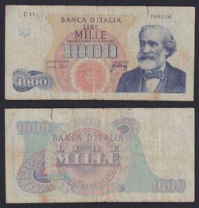 Italia 1000 lire G. Verdi 1° tipo 1966 BB-/VF-  C-08