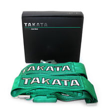 TAKATA green racing seat belts 2 or 4 seater car belts 4 point sparco schrot