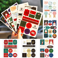 Merry Christmas Gift Paper Sticker Biscuit Package Seal Label Gift Boxes DIY