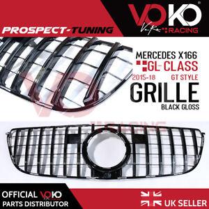 NEW MERCEDES GLS CLASS X166 GRILLE PANAMERICANA GT STYLE GLOSS BLACK 16-19 VKK08