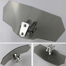 For Honda XL1000V Varadero VFR750F VFR800F Clip on Windscreen Deflector Gray