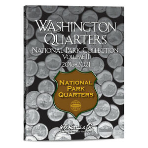 HARRIS COIN FOLDER NATIONAL PARKS QUARTERS #2 2016-2021 ~ NEW CLOSE OUT ~ #2881