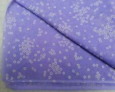 Vtg 60's Fabric Flocked Floral Organza 2yd