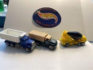 Hot Wheels Peterbuilt Dump Truck Osh Kosh Cement Mixer & Troop Convoy