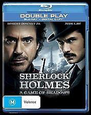 SHERLOCK HOLMES: A GAME OF SHADOWS BLU RAY- ROBERT DOWNEY JR, JUDE LAW FREE POST