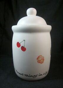 Florasense Grannys Baked Apples 18 oz Candle in Mini Ceramic Cookie Jar Unlit