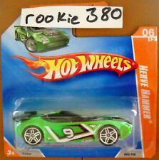 2009 Hot Wheels TRACK STARS #60 ∞ NERVE HAMMER ∞ GREEN SHORT CARD RARE