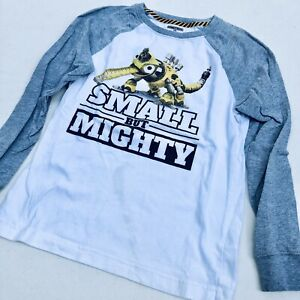 Gymboree Dinotrux Long Sleeve T-Shirt Small But Mighty Boy's Top Size 8