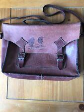 Vintage older leather satchel handbag
