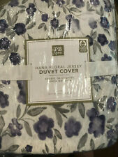 Pottery Barn Teen Hana Jersey Floral Duvet Cover Twin NEW Lavender Purple