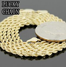 "20""14K GOLD PLATED ROPE CHAIN NECKLACE 2MM 8g R55"