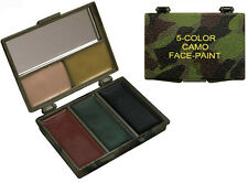 Woodland Camouflage 5 Color Camouflage Face Paint Compact Mirror Rothco 8205