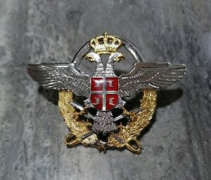 SERBIA Air Force and Air Defense Officer Badge Insignia FOR CAP