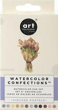 Prima Marketing, 636722 Prima Confections Watercolor, Pans 12/Pkg-Vintage Pastel